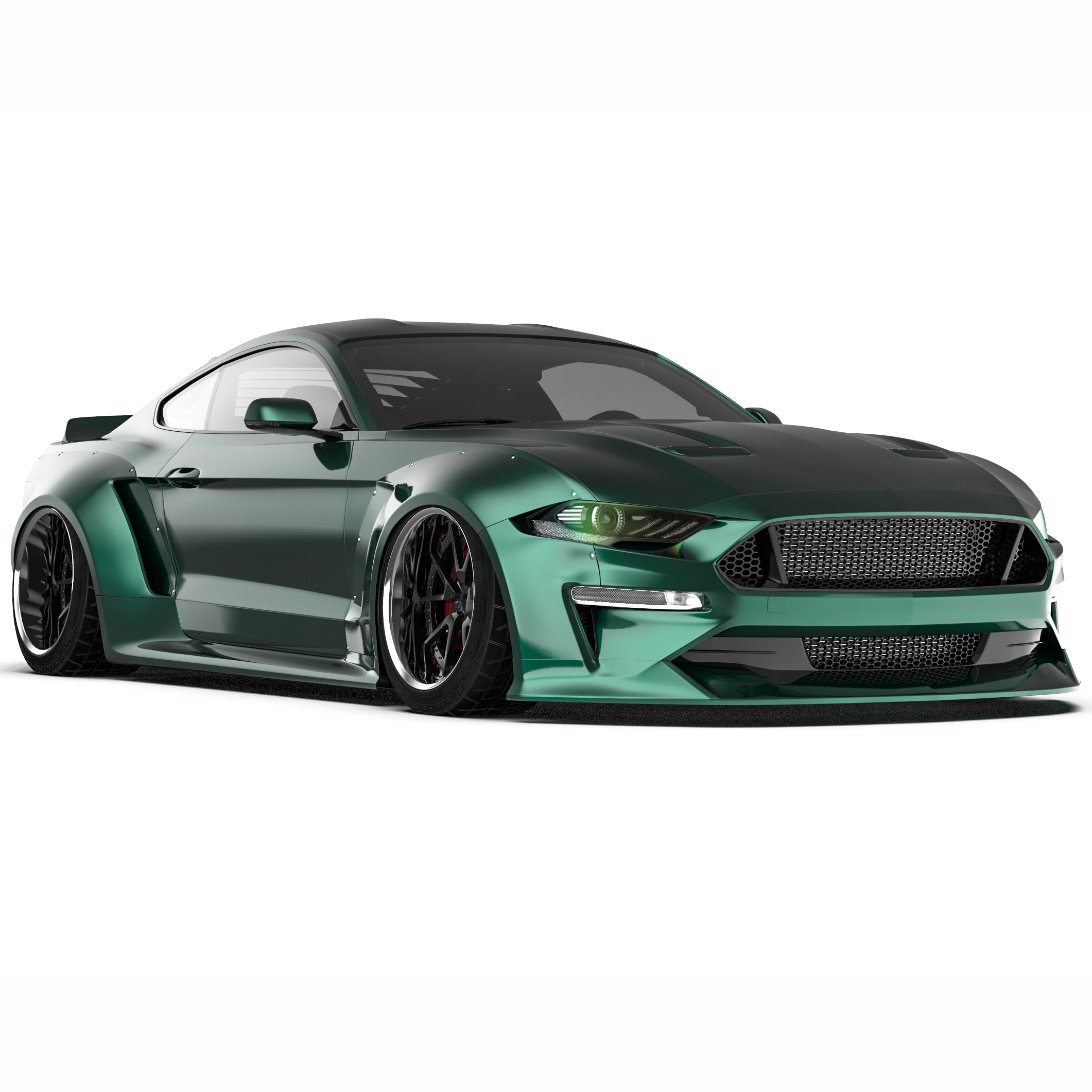 2018 2019 ford mustang clinched wide body kit